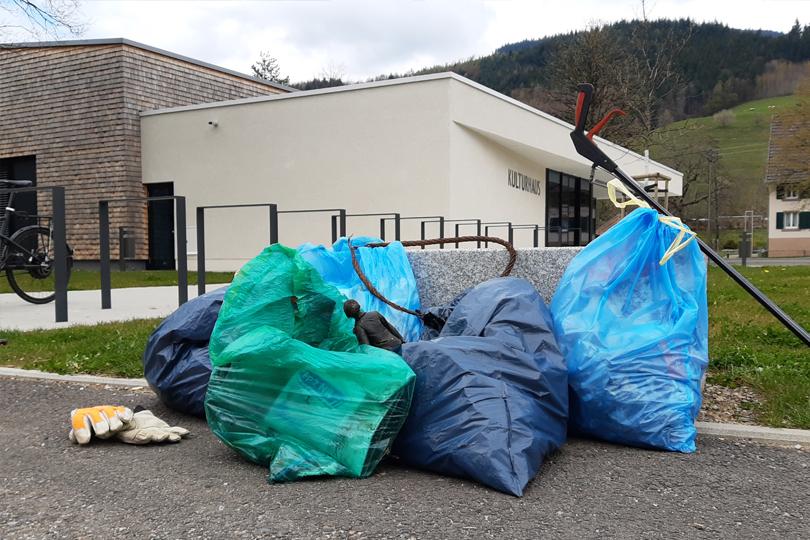 5 Säcke Müll gesammelt